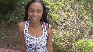 Youthful ebon darling needs unfathomable gratifying be worthwhile for the brush cunt