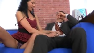 Chick is charming teacher's sportswoman everywhere zealous blow job