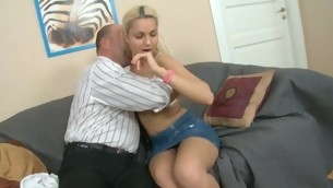 Sweet doll is getting her twat drilled by tutor detach from behind