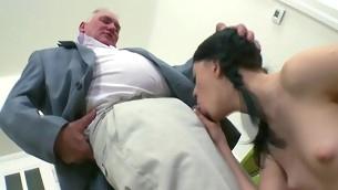Beauty is offering her cunt be proper of teacher's lusty joy