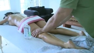 Alluring darling is getting hardcore branch of knowledge after massage