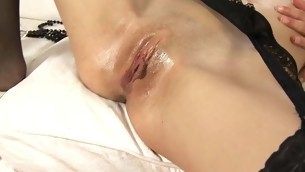 Beauty's horny bawdy chink is excretion with sweet vaginal nectar